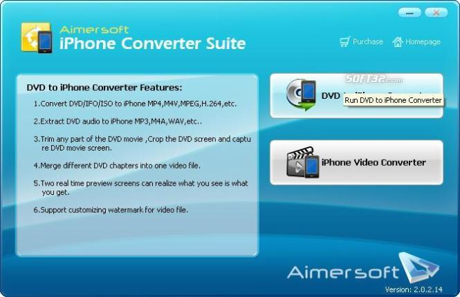 Aimersoft iPhone Converter Suite Screenshot 1