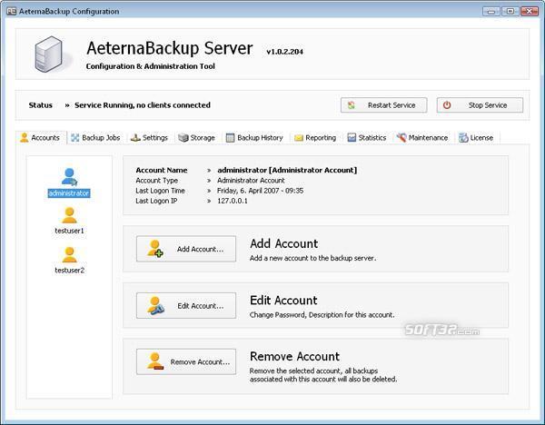 AeternaBackup Screenshot