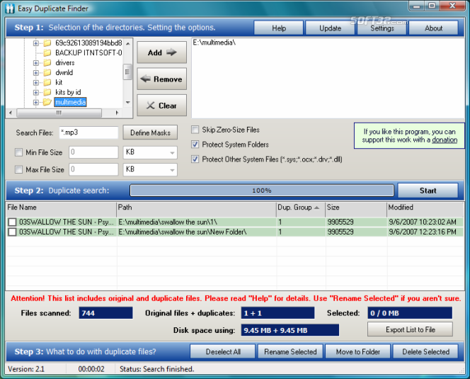 Easy Duplicate File Finder Screenshot 2