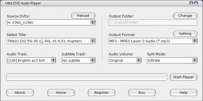 Ultra DVD Audio Ripper Screenshot