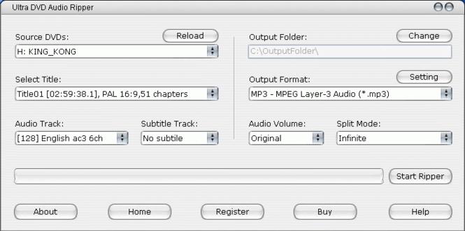 Ultra DVD Audio Ripper Screenshot