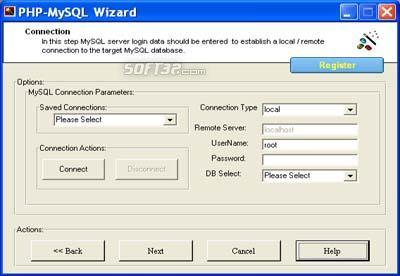PHP Code Generator for MySQL Screenshot 3
