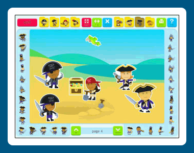Sticker Book 5: Pirates Screenshot