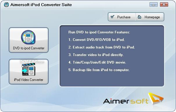 Aimersoft iPod Converter Suite Screenshot 1