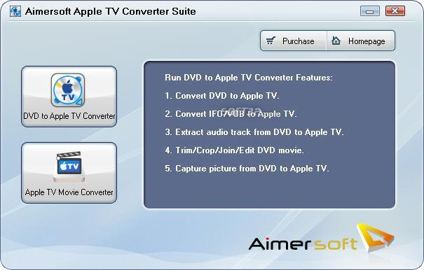 Aimersoft Apple TV Converter Suite Screenshot
