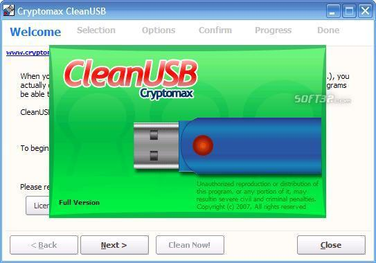 Cryptomax CleanUSB Screenshot