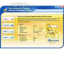 Free Internet/System History Cleaning Studio Screenshot