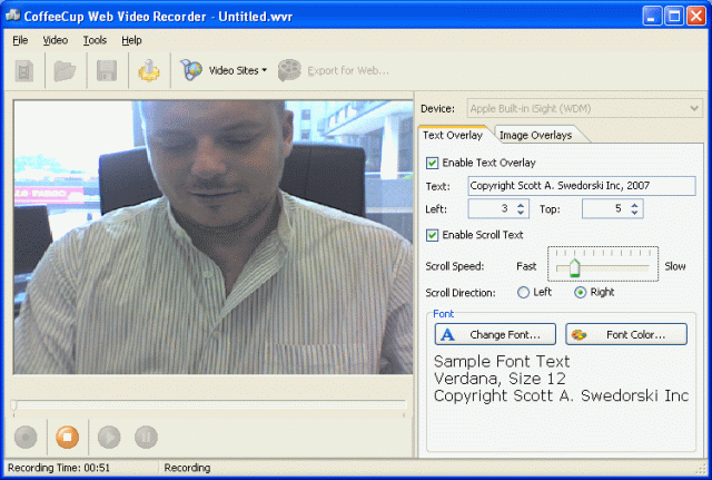 CoffeeCup Web Video Recorder Screenshot
