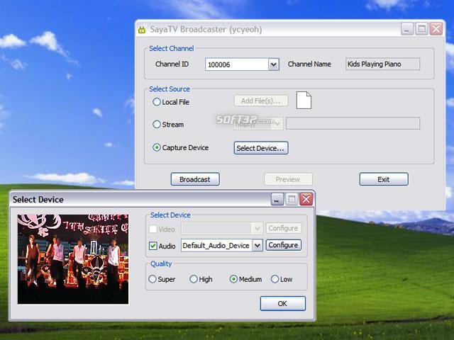 SayaTV Broadcaster Screenshot 1