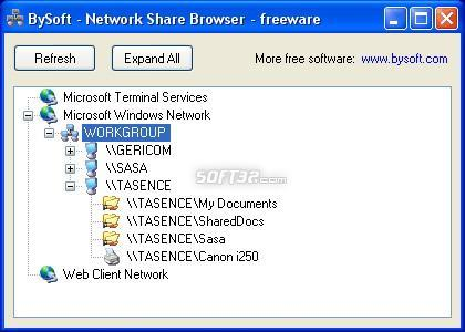 Blue Network Browser Screenshot 2