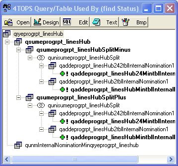 4TOPS Query Tree Editor for MS Access Screenshot 1
