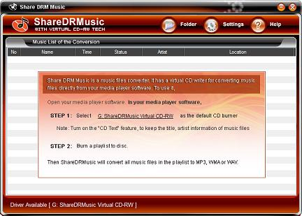 Share DRM Music M4P Converter Screenshot