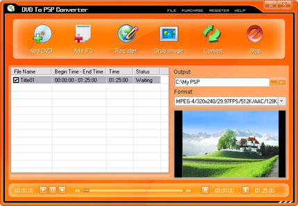 Pop DVD Ripper Screenshot