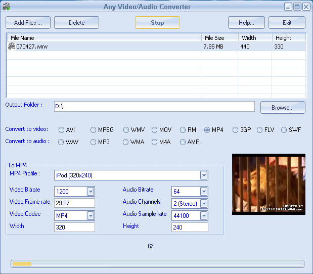 Any Video/Audio Converter Screenshot 1