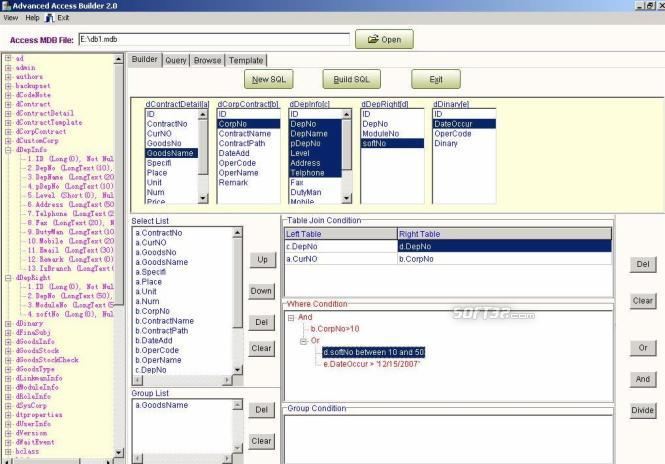 Advanced Access Builder Screenshot