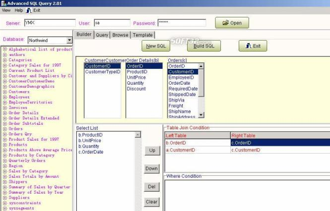 Advanced SQL Query Screenshot