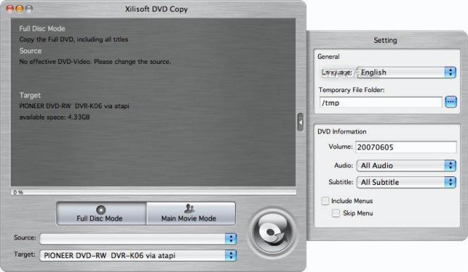 Xilisoft DVD Copy for Mac Screenshot 2