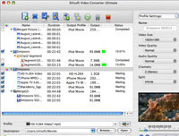 Xilisoft Video Converter Platinum Mac Screenshot