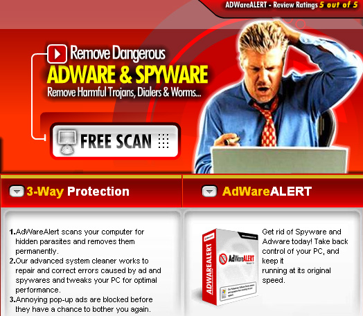 Spyware Adware Alert SE 2009 Screenshot