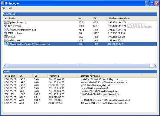 IP Traffic Snooper Screenshot 2