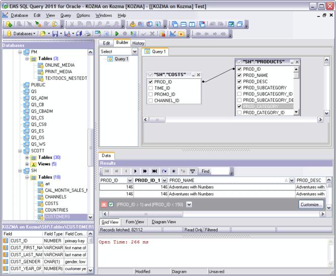 EMS SQL Query for PostgreSQL Screenshot