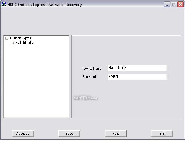 HDRC Outlook express password recovery Screenshot