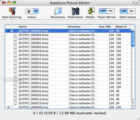 dupeGuru Picture Edition Screenshot 2
