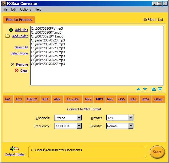 FXBear WMA MP3 OGG AAC Audio Converter Screenshot 1