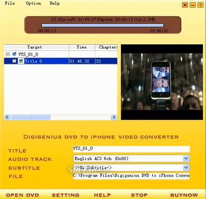 Digigenius DVD to iPhone Converter Screenshot 3