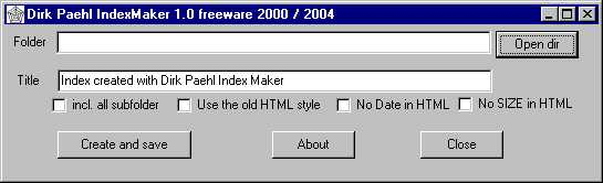 IndexMaker Screenshot