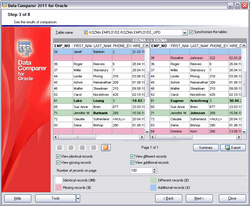 EMS Data Comparer for Oracle Screenshot