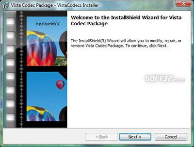 Vista Codec Package Screenshot 3