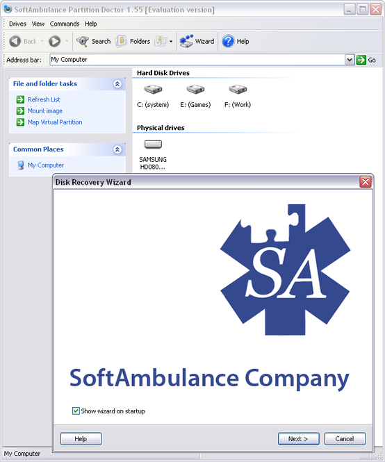 SoftAmbulance Partition Doctor Screenshot