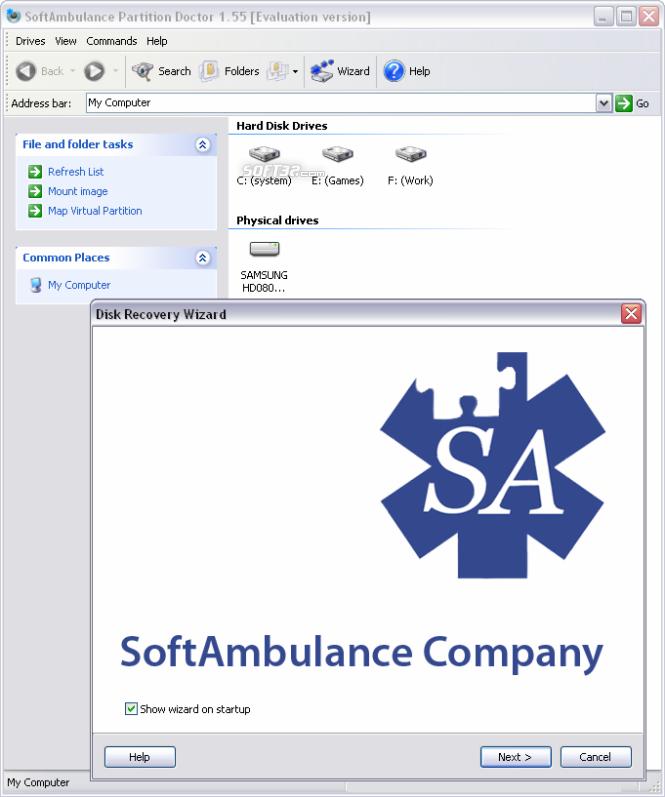 SoftAmbulance Partition Doctor Screenshot 3