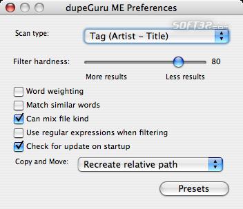 dupeGuru Music Edition Screenshot 4