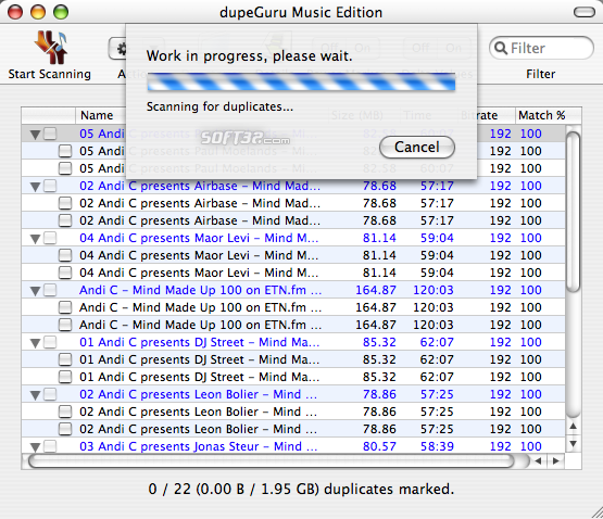 dupeGuru Music Edition Screenshot 1