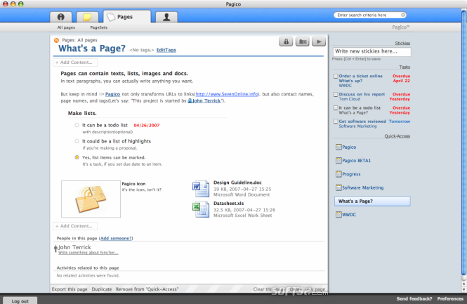 Pagico (Basic) Screenshot 3