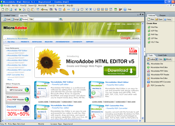 Abdio Html Editor Screenshot 1