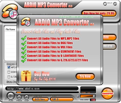 Abdio MP3 Converter Screenshot 1