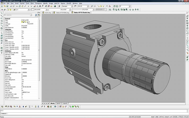 progeCAD 2009 Standard IntelliCAD Screenshot