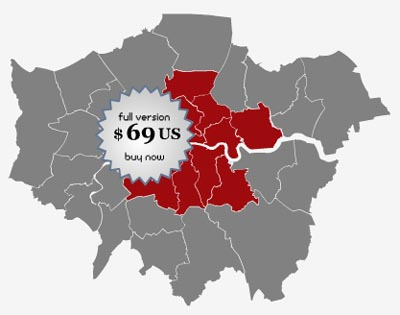 Locator Map of the London Boroughs Screenshot