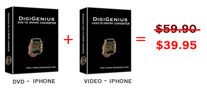 Digigenius DVD+video to iPhone Converter Screenshot 1