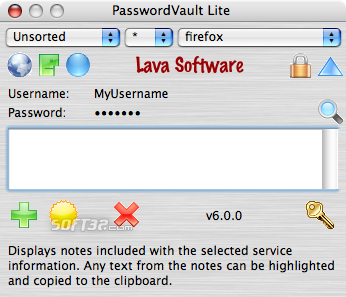 PasswordVault Lite X Screenshot
