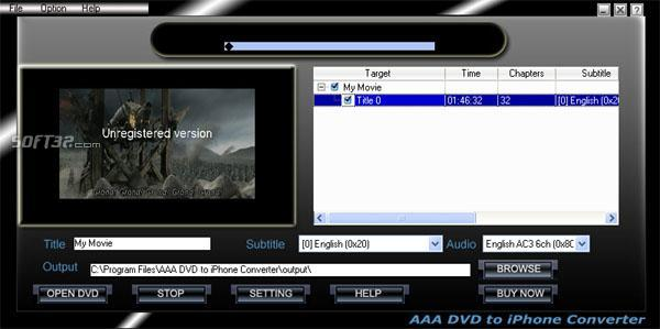AAA  DVD To iPhone Converter Screenshot 2