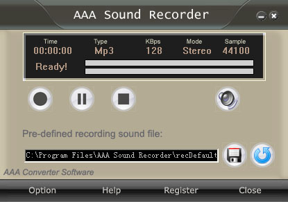 AAA Sound Recorder Screenshot