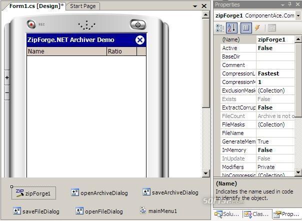ZipForge.NET for Compact Framework Screenshot 2