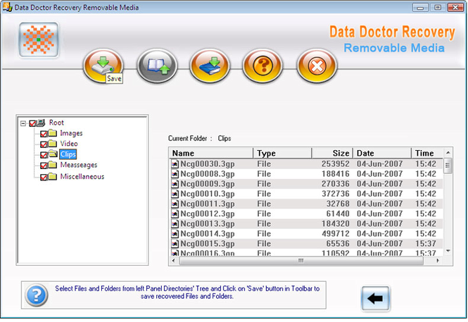 Removable Disk Data Undelete Utility Screenshot