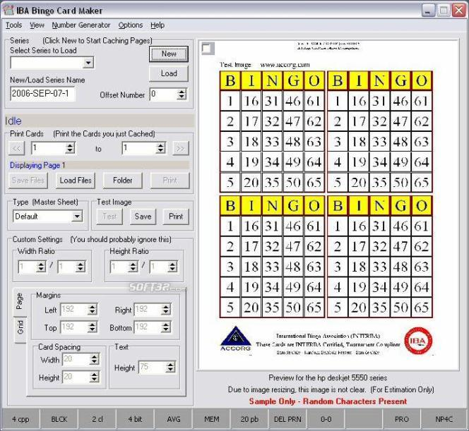 IBA Bingo Card Maker Screenshot