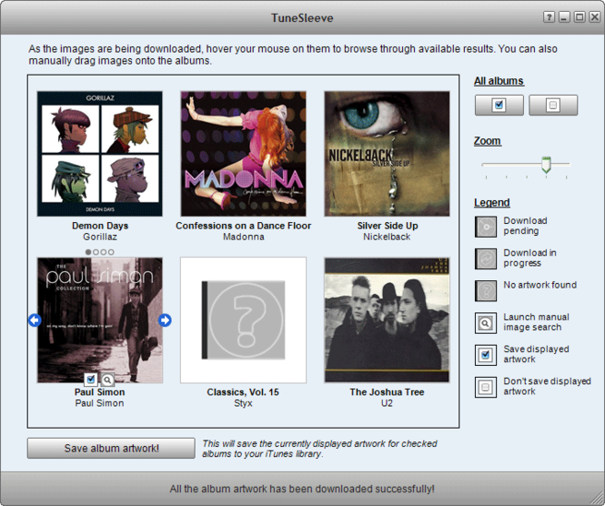 TuneSleeve Screenshot