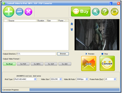 Coolsoft Video Converter Screenshot